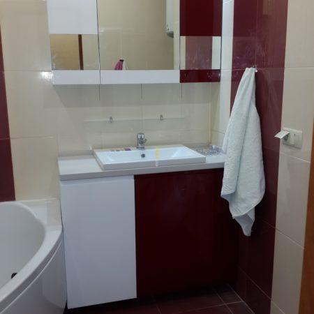 Мебель в ванную комнату с крашеного МДФ