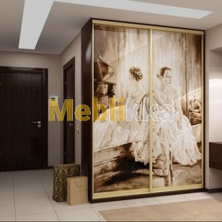 Купить шкафы-купе с фотопечатью балерины в Харькове под ваши размеры и желания.