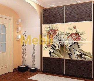 Купить шкафы-купе с фотопечатью цветов в Харькове под ваши размеры и желания.