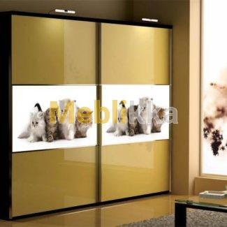 Купить шкафы-купе с фотопечатью котят в Харькове под ваши размеры и желания