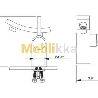 Купить смеситель для ванной комнаты Unicus KEF-14302CH от производителя Kraus хорошего качества недорого
